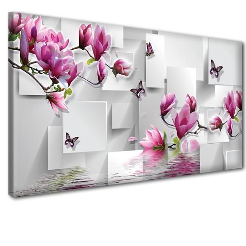 Obraz na ścianę do sypialni salonu  tajemniczy kwiat 41296 - 1