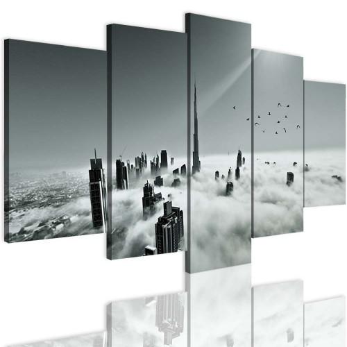 Obrazy 5 częściowe 15119 drapacze chmur niebo - 1