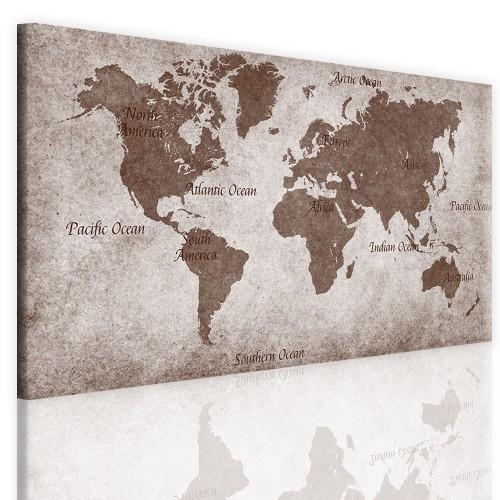 Tablica korkowa na ściane mapa świata 51098 - 1
