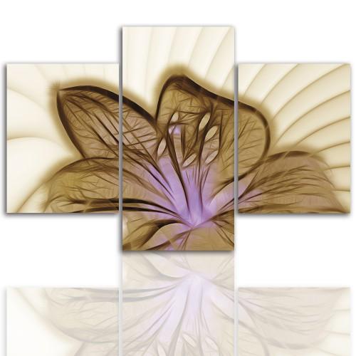 Tryptyk do salonu - Pejzaż, lilia kwiat 12239 - 1