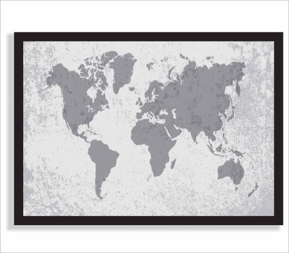 Plakat mapa świata  61242 - 1