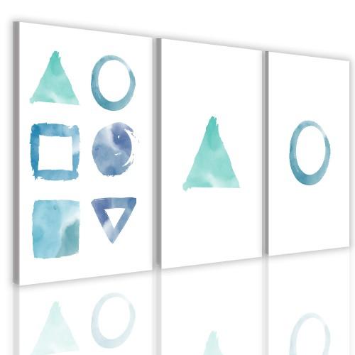 Obrazy na ścianę 41188 trzyczęściowy do salonu  geometria - 1