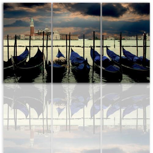 Tryptyk do salonu - Obraz, pejzaż, miasto, Wenecja 12194 - 1
