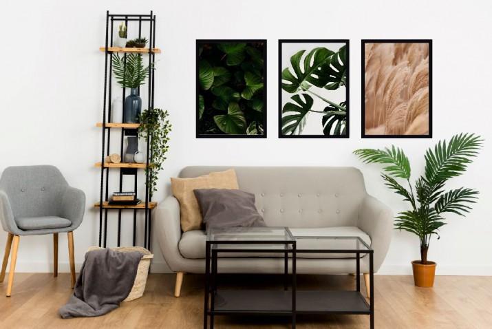 Plakaty w stylu boho zestaw plakatów na ścianę KP043 - 1