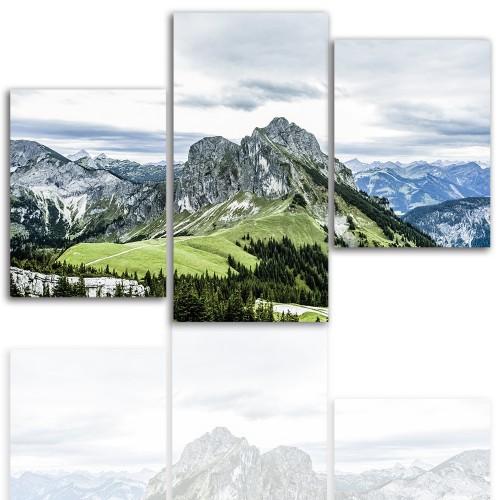 Tryptyk do salonu - Pejzaż, góry, jezioro 12002 - 1