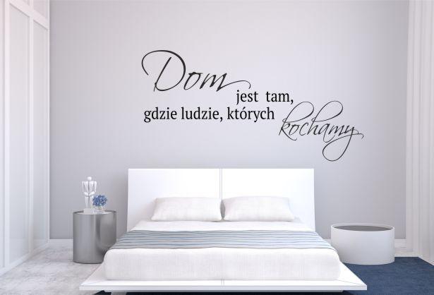 883 Naklejka dekoracyjnana ścianę, cytat - 1