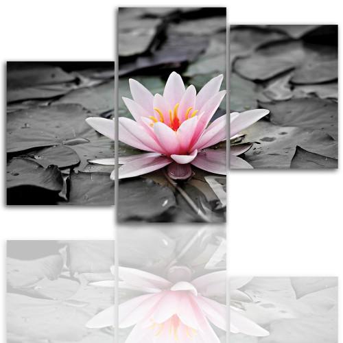 Tryptyk do salonu - Kwiat, lilia 12038 - 1