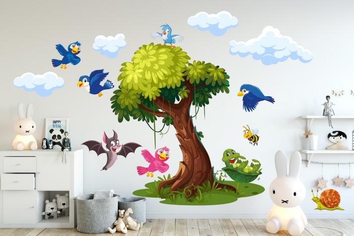Naklejki na ścianę dla dzieci  41050 wesołe ptaszki - 1