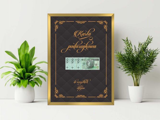 Plakat w ramie na pieniądze pikowane  PP003 - 1