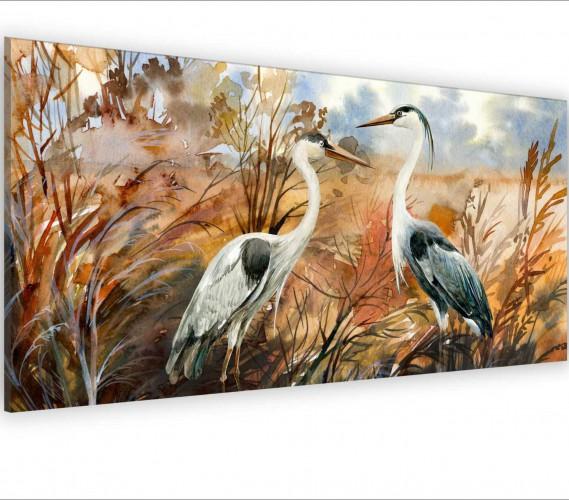 Obraz na ścianę do sypialni salonu ptaki, akwarela 20130 - 1