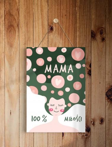 Tabliczka drewniana ozdobna zawieszka prezent na Dzień Mamy 43009 - 1