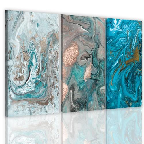 Obraz tryptyk na ścianę ścienny 41131 nowoczesna abstrakcja - 1