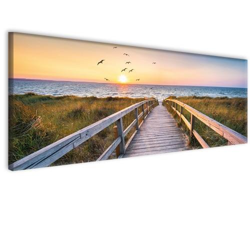 Obraz na ścianę do sypialni salonu zachód słońca  41270 - 1