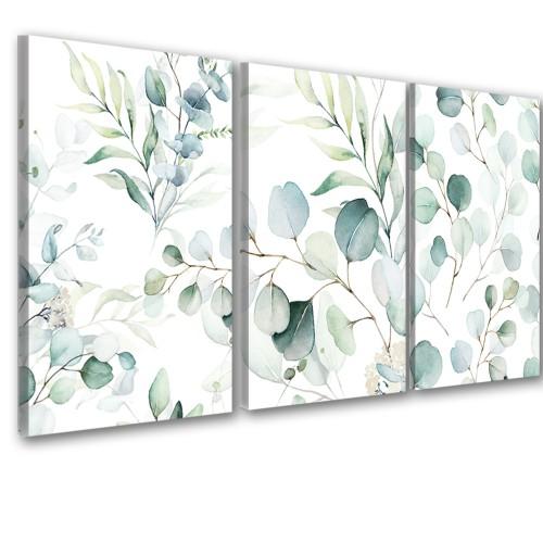 Obraz na ścianę do salonu sypialni 41266 pastelowe liście - 1