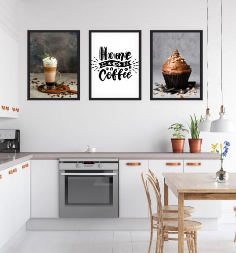 Zestaw trzech plakatów plakaty na ścianę do kuchni KP173 - 1