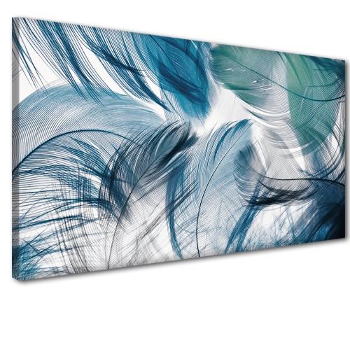 Obraz na ścianę do sypialni salonu delikatne pióra 41250 - 1