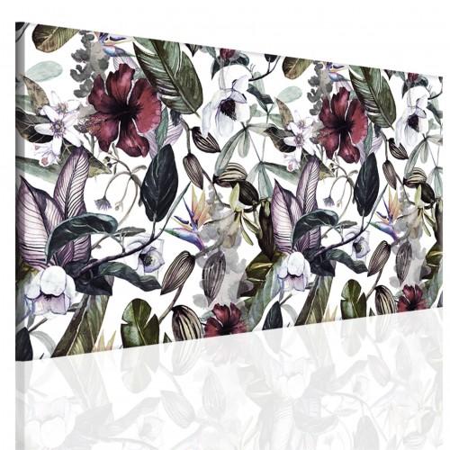 Obraz na ramie płótno canvas- kwiaty, liście 15080 - 1