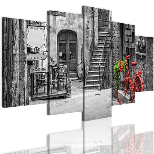 Obrazy 5 częściowe 15113 miasto, uliczka - 1