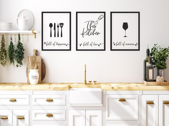 Zestaw trzech plakatów plakaty na ścianę do kuchni KP178 - 1