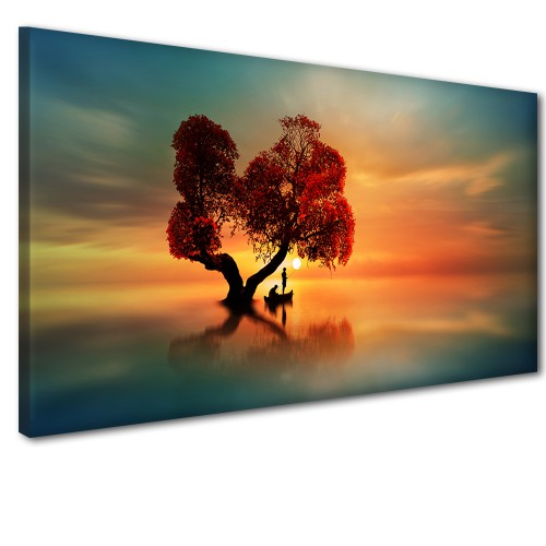 Obraz na ścianę do sypialni salonu czerwone liście  41240 - 1