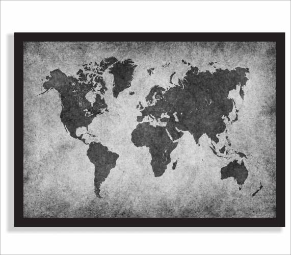 Plakat mapa świata  61238 - 1