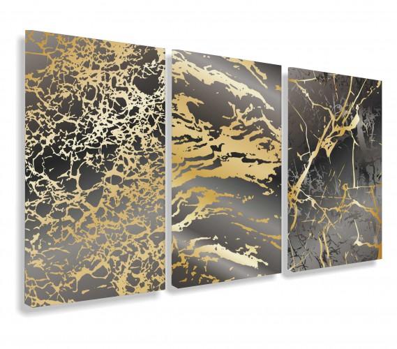 Obraz na ścianę do salonu sypialni złoto 20121 - 1
