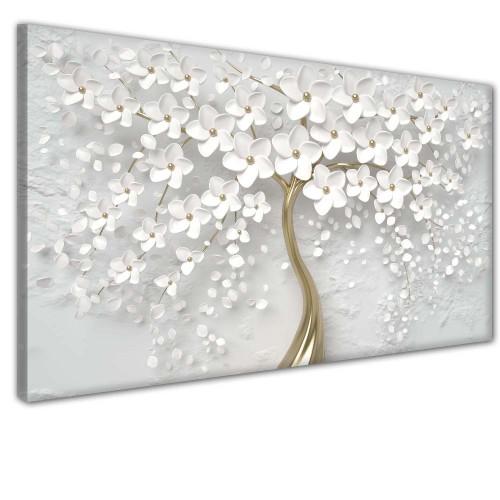 Obraz na ścianę do sypialni salonu złote drzewo  41387 - 1