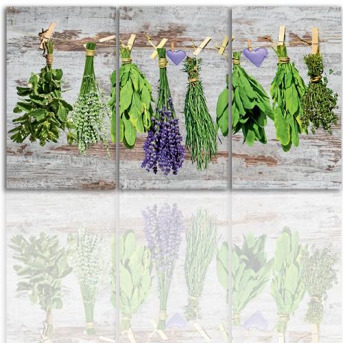 Tryptyk do salonu -  Obraz, zioła, kuchnia 12205 - 1