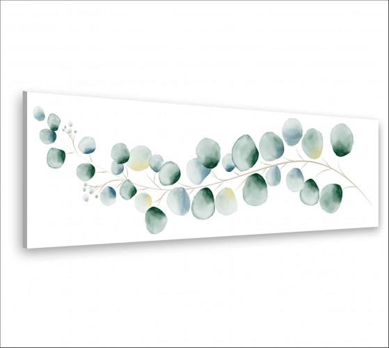 Obraz na ścianę do sypialni salonu akwarela, liście 20128 - 1