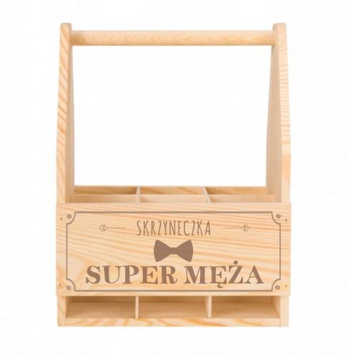 Skrzynka drewniana na piwo dla Super Męża - 1