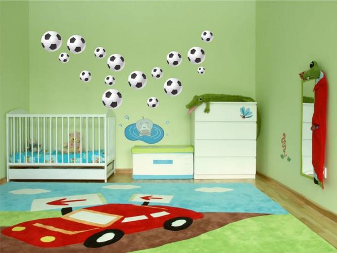 Naklejka ścienna dla dzieci -  piłki zestaw 96 - 1