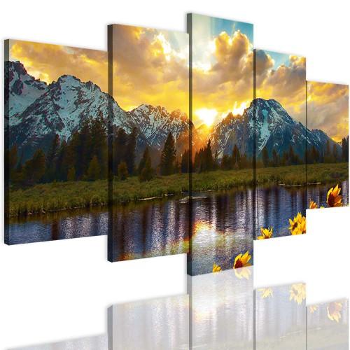 Obrazy 5 częściowe 15117 góry, widok - 1