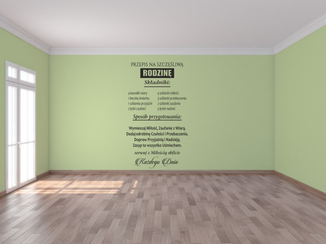 4142 Naklejki na ścianę napisy ścienne - 1