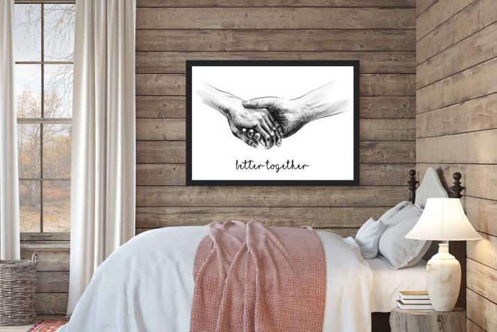 Plakat w ramie ślub miłość 20330 - 1