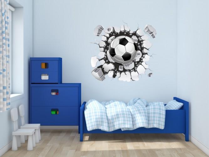 Naklejka na ścianę, dziura 3D piłka 2347 - 1