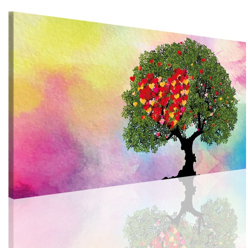 Obraz na ramie płótno canvas- obraz do sypialni drzewo, kwiaty 5149 - 1