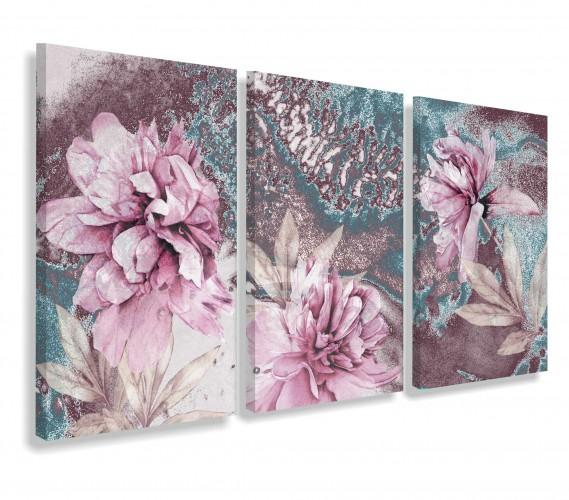 Obrazy na ścianę sypialni, salonu 20201 pastelowe kwiaty - 1